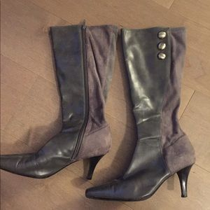 Predictions tall gray high-heel boots